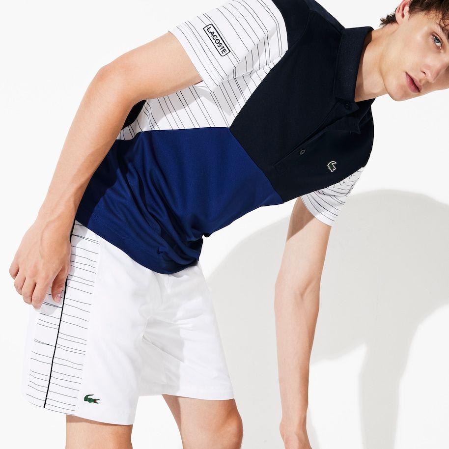Polo De Hombre Lacoste Sport Tennis En Pique Transpirable Color Block Lacoste Lacoste Estilos De Ropa Para Hombre Polo Hombre