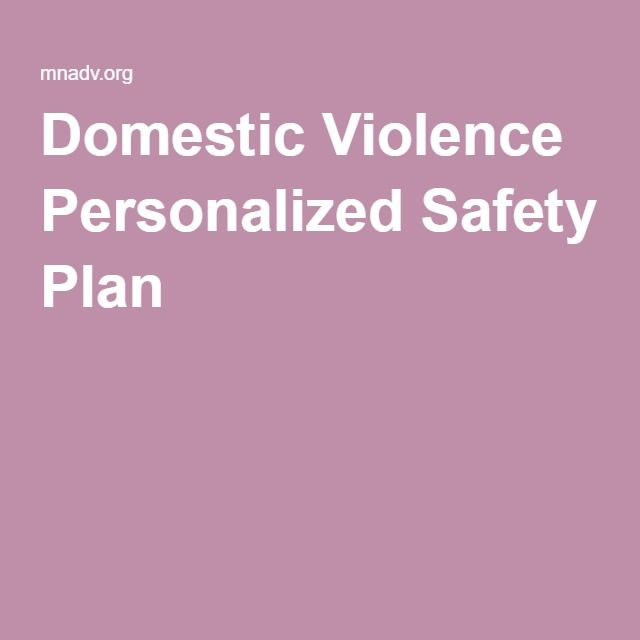 Domestic Violence Personalized Safety Plan  Sw Stuff