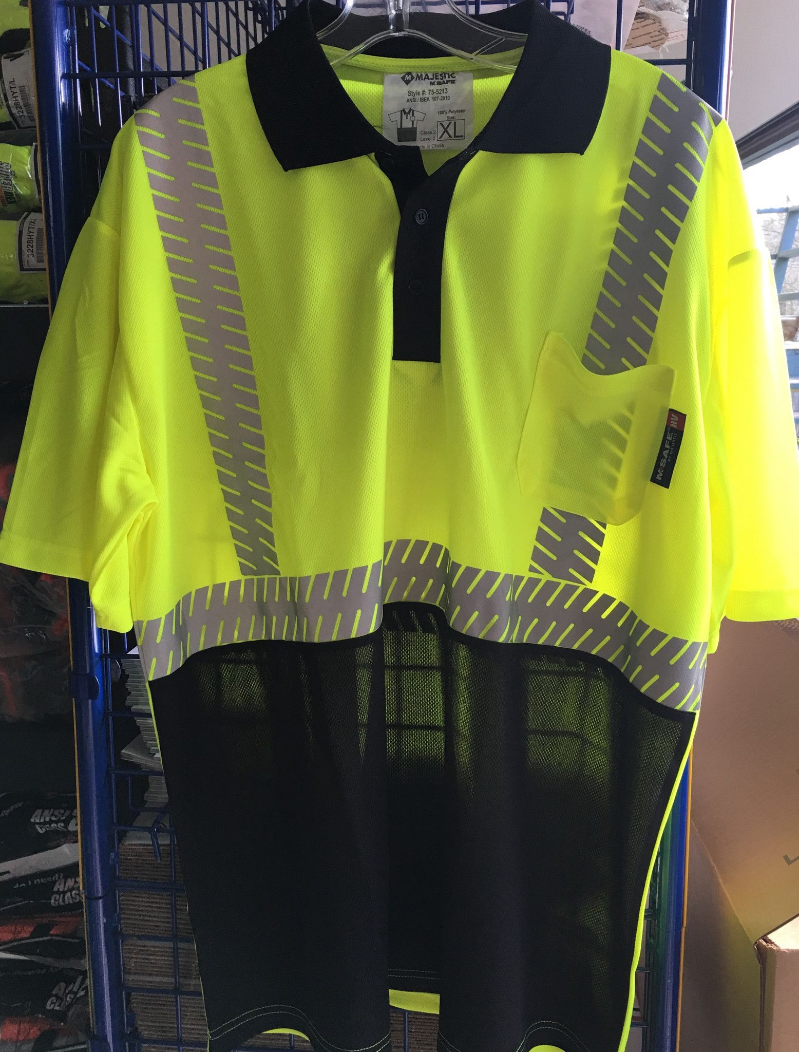 Safety Shirt Majestic 75 5213 Hi Vis Cl2 Safety Polo Products