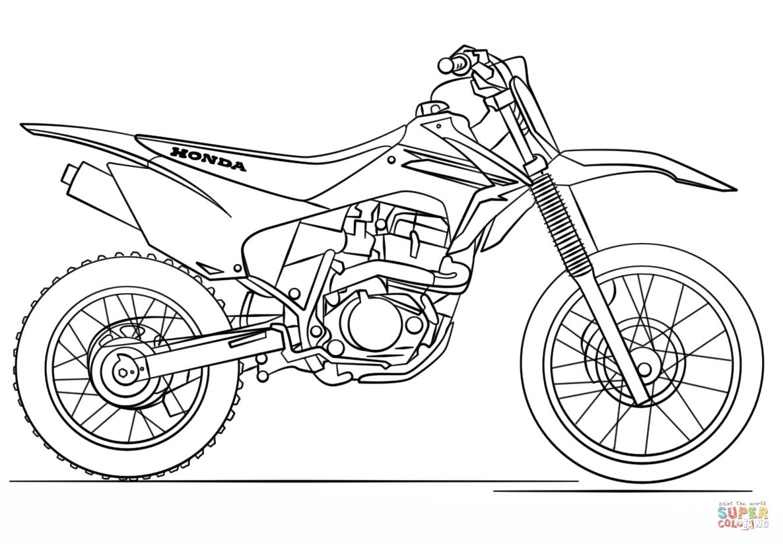 Ausmalbilder Motorrad Honda