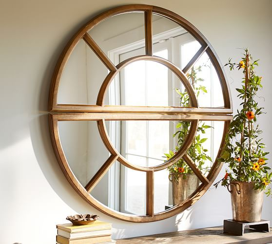Arched Paned Mirror Mirror Gallery Wall Rustic Wall Mirrors