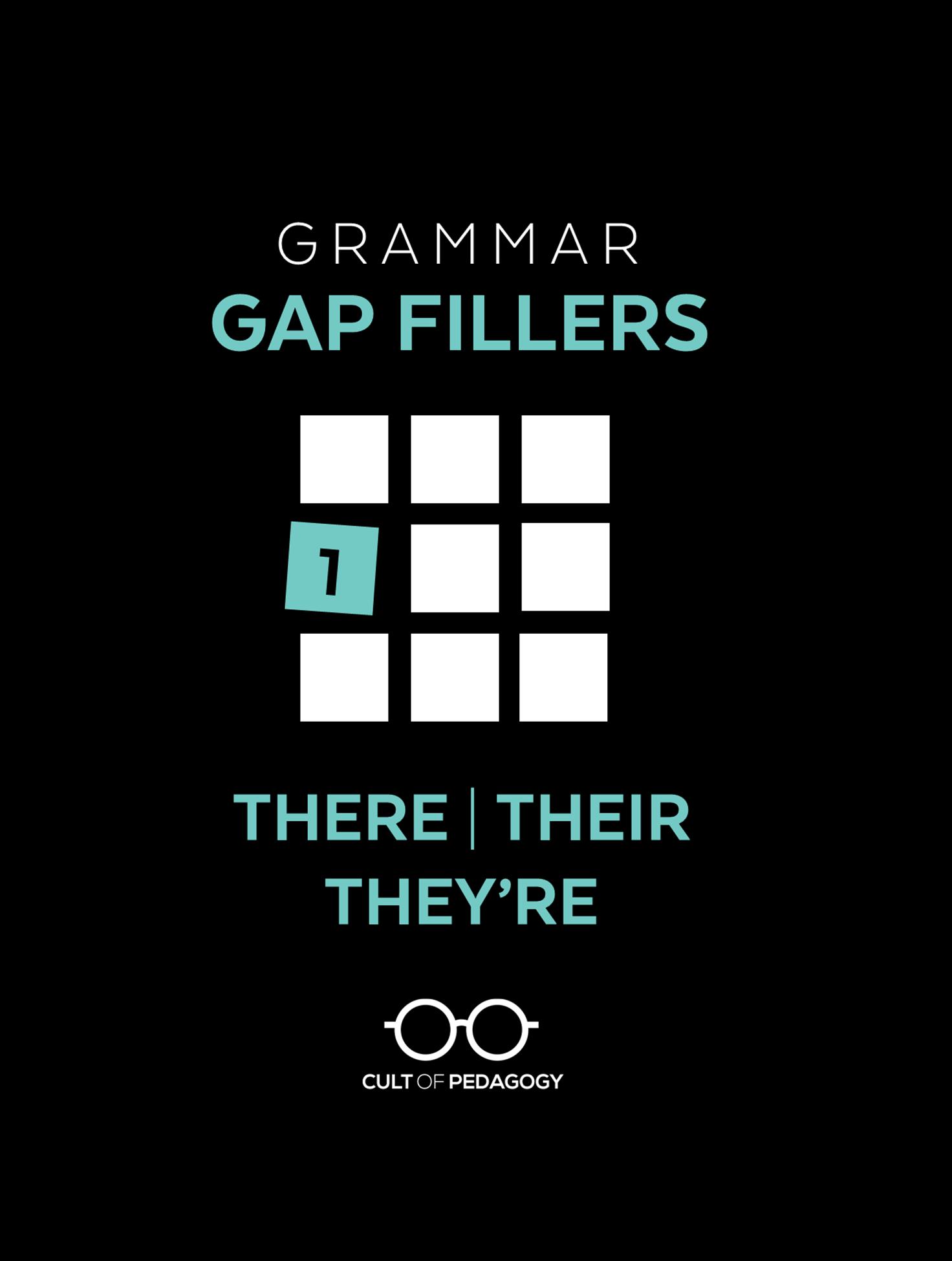 Grammar Gap Filler 1 There