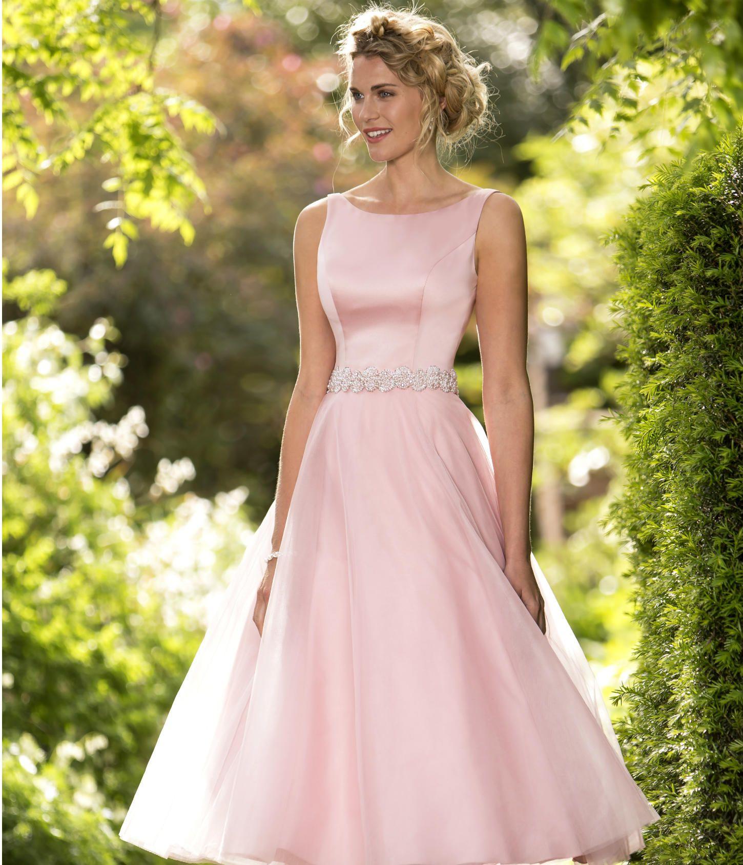 Style M647 | Tea length bridesmaid dresses, Bridesmaid ...