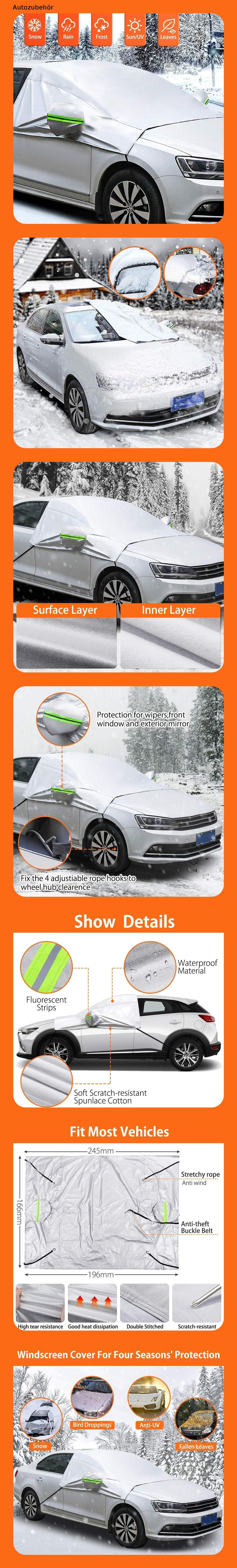 Auto Windschutzscheibe Frontscheibe Abdeckung Anti Schnee Sonne  Winterschutz