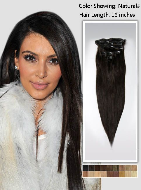 20s hair styles 18 quot black indian remy clip in hair extensions usna18 2227