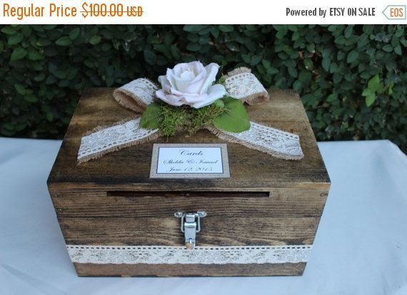 On Sale Wedding Card Box Cardholder Wooden Lockable Cardholder Box Box With Slot Rustic Wedding Card Box Wedding Fall Wedding Cards Card Box Wedding Diy