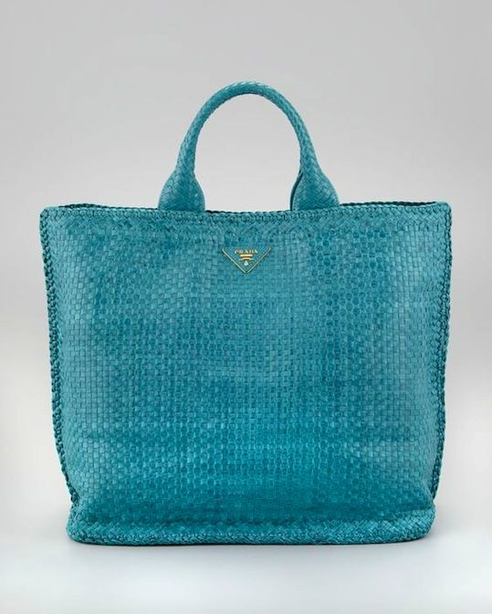 adb1c5880357c0 Icon Trend Blog | Prada's woven leather handbag rage | WOVEN | Bags ...