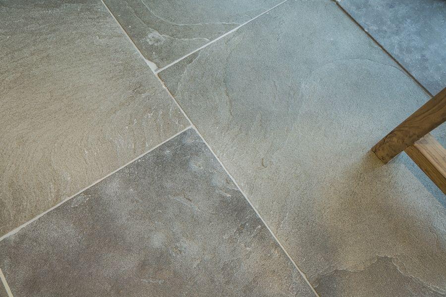 Weathered & Aged Old Heritage Limestone Flagstone Floor
