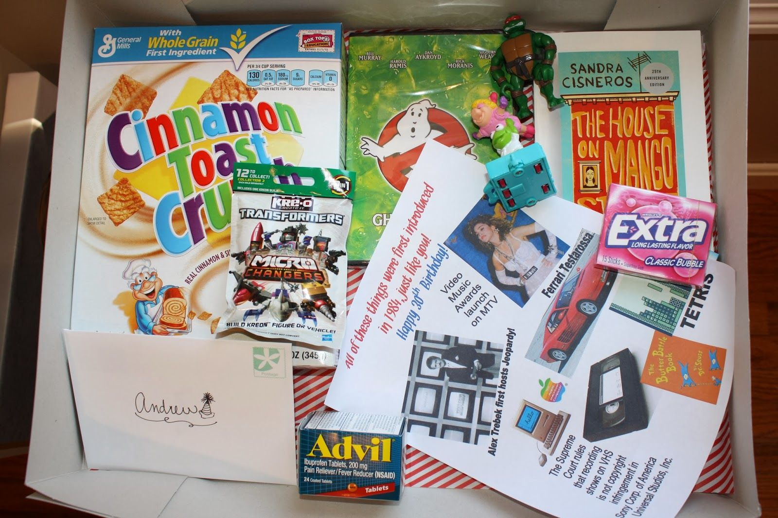 Gift Idea For A 30th Birthday In 2014 Give Box Of Things From 1984