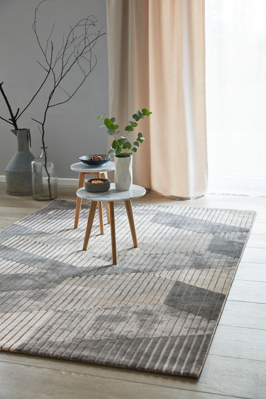 Esprit Kurzflor Teppich Tamo Grau Taupe Teppich Design Gewobener Teppich Teppich Geometrisch