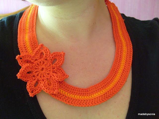 crochet necklace | bijoux crochet | Pinterest | Collares, Tejido ...
