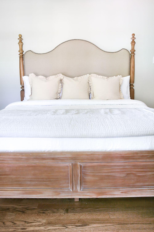 Master Bedroom Update Pickled Pine Furniture Bless Er House White Washed Bedroom Furniture Upholstered Bedroom Pine Bedroom Furniture