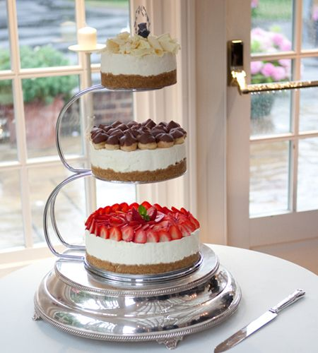 Three tiered white chocolate cheesecake Recipe Wedding