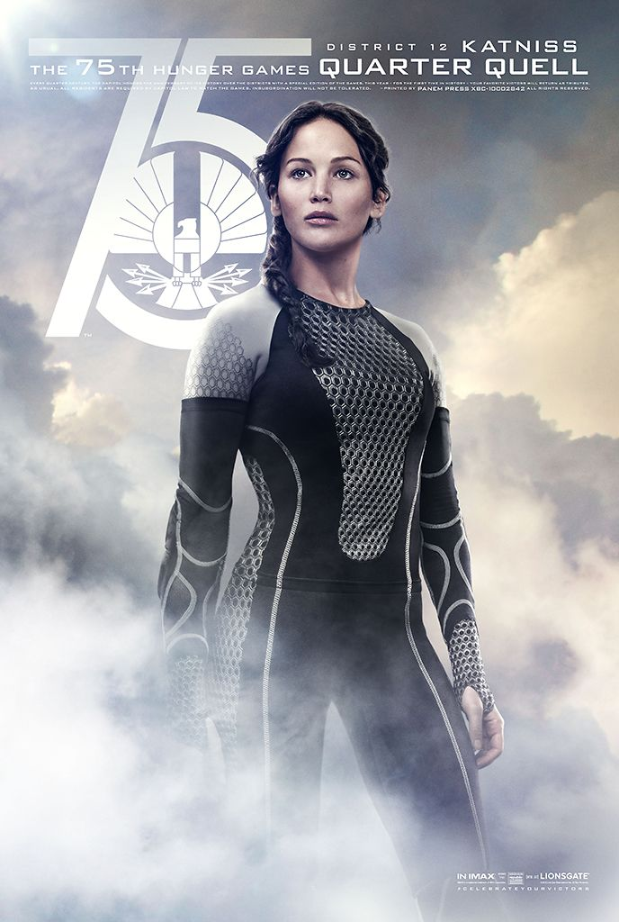 ew Catching Fire poster - Katniss in the Quarter Quell - N
