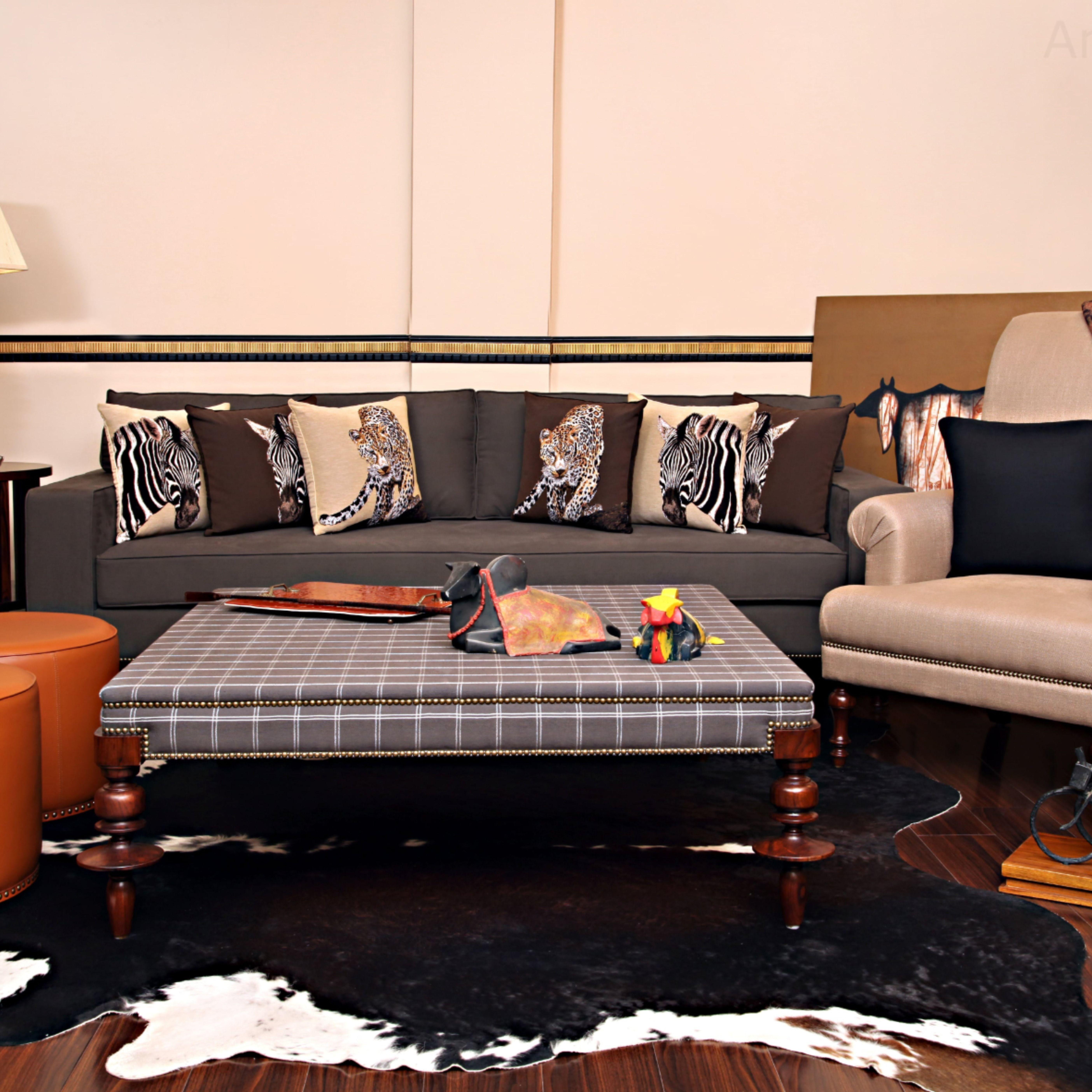 Drawing Room Design Elegant Furniture Cozy Lounge Solid Linen