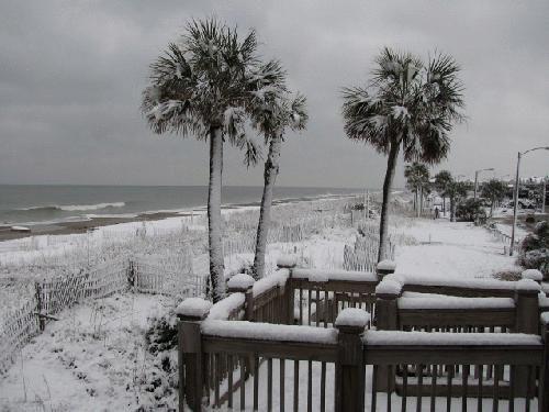 Snow At Myrtle Beach Sc Feb 2010