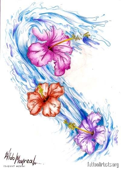 Beautiful Hibiscus Flower Watercolor Tattoo On Upper Back Hibiscus Tattoo Hibiscus Flower Tattoos Hawaiian Flower Tattoos