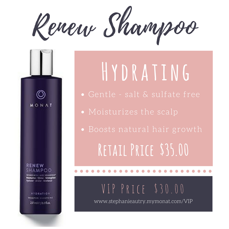 Monat Renew Shampoo is my favorite! It makes my hair so