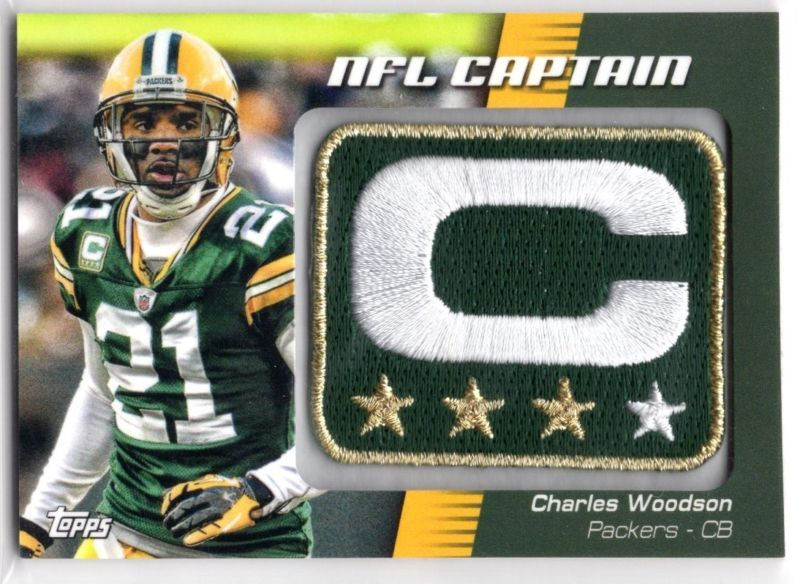 Charles Woodson 2012 Topps NFL Captain PATCH Packers - FREE ...
