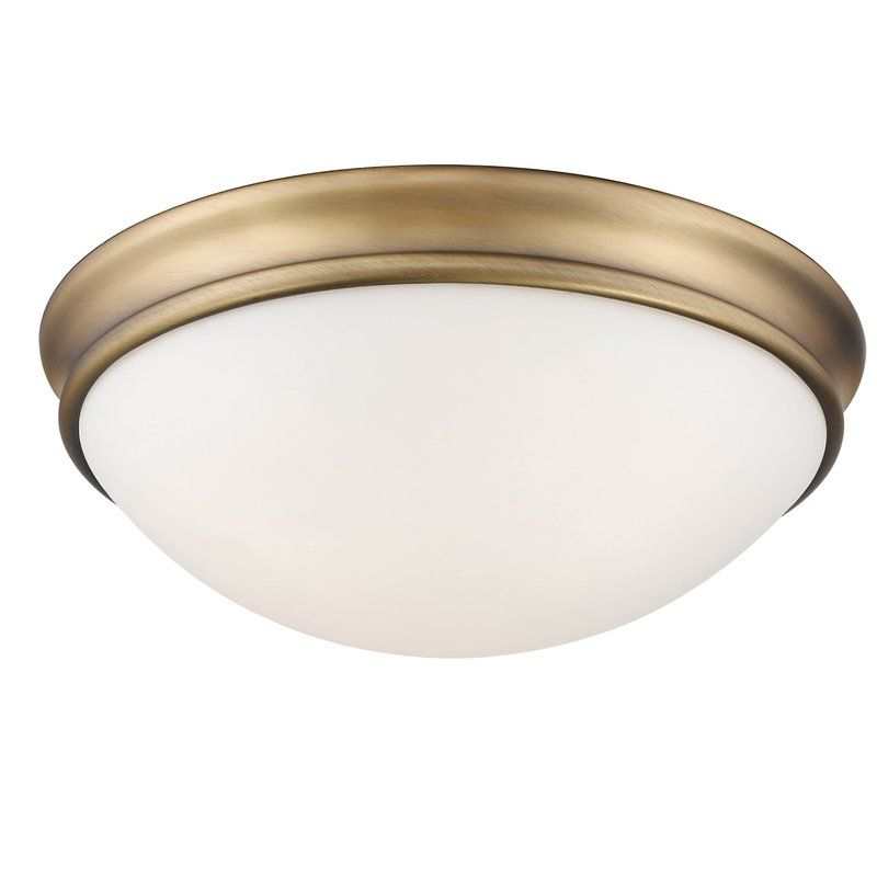 Alaric 2 Light 12 Simple Bowl Flush Mount Flush Mount Light Flush