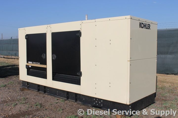 Kohler 150 kW Natural Gas Generator 74 Hours, 120/240