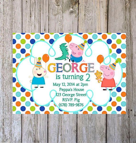This listing is for a peppa pig birthday invitation size 5 x 7 you this listing is for a peppa pig birthday invitation size 5 x 7 you will receive a high resolution jpg file for you to print a proof will be sent stopboris Images