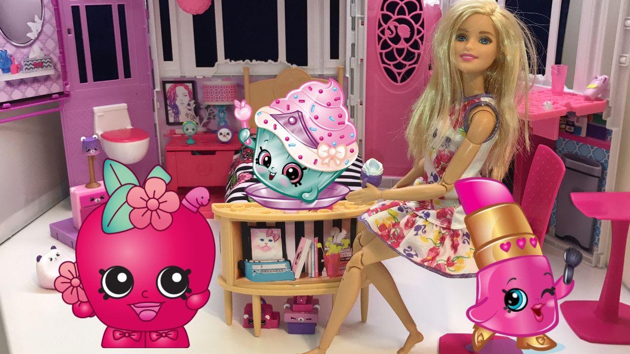 العاب باربي في بيت الاحلام الحلقة5 باربي تقوم بترتيب ألعاب الشوبكينز ف Lily Pulitzer Dress Barbie Dream House Barbie Dream