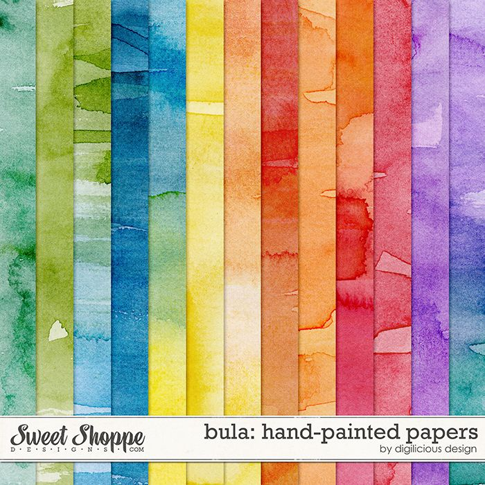 Bula! Hand-Painted Papers by Digilicious Design