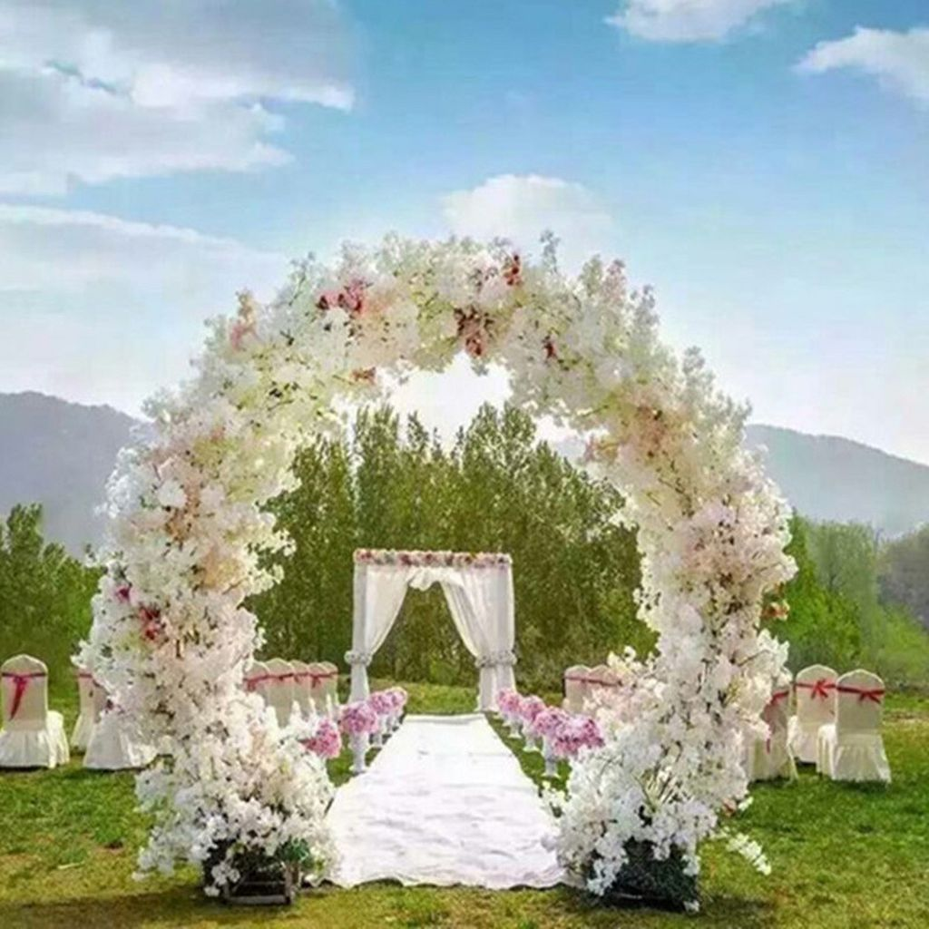 97 Floral Wedding Arch Decoration Ideas | Floral wedding and Wedding