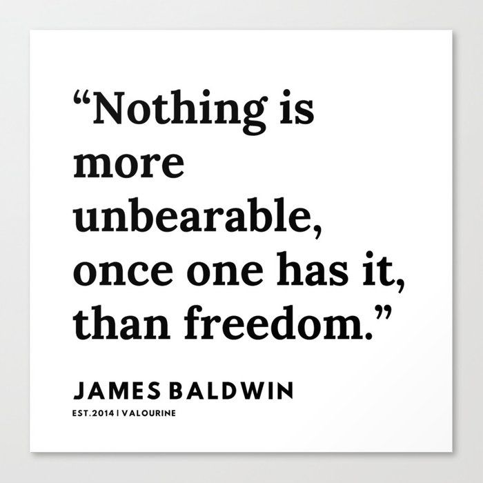 68    |James Baldwin Quotes |  200626 | Black Writers | Motivation Quotes For Life Canvas Print by Quotes And Sayings