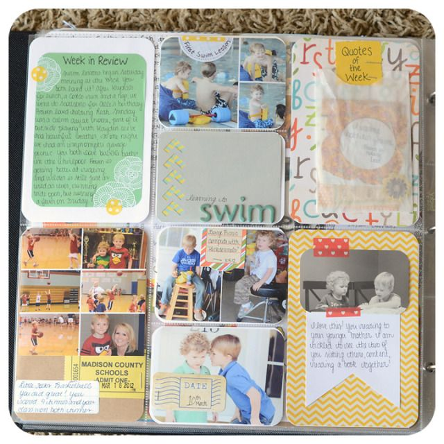I love the yellow card with the banner journaling and the small photo.