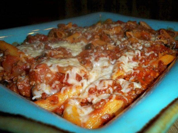 Baked Mostaccioli Recipe Food Com Recipe Baked Mostaccioli Baked Mostaccioli Recipe Pickerel Recipes