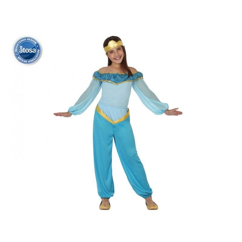 Deguisement de princesse arabe jasmine bleue enfant d guisements enfant dessin anim - Dessin anime danseuse ...