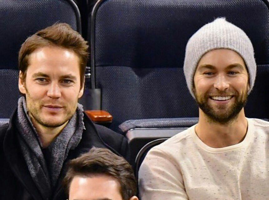 Taylor Kitsch - Event Game at Madison Square Garden,  New York, NY 2016.W/ Chace Crawford.