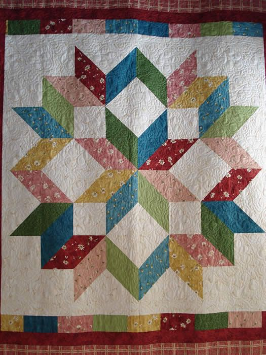 Carpenters Star Make One Large Block For The Whole Quilt Star