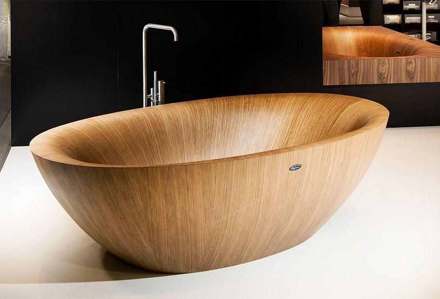 bathroom awesome wooden laguna pearl bathtub with - Home Design ...