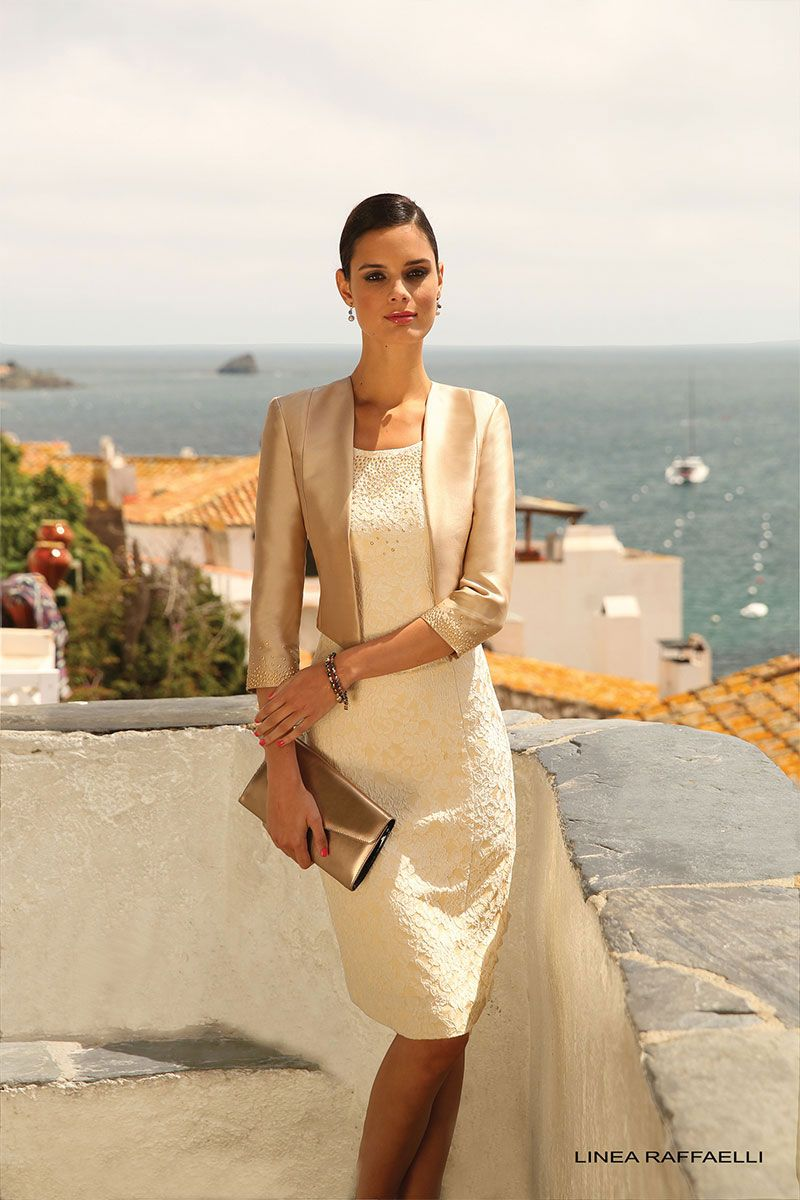 Dress with jacket for wedding  Short fitted shift dress with cropped jacket