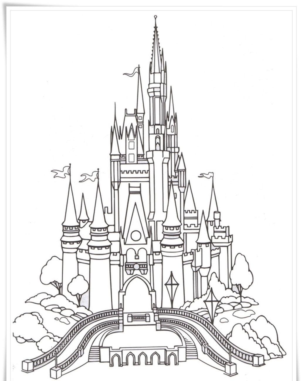 Disney Castle Coloring Pages For Adults Castle Coloring Page Disney Activities Disney Castle Drawing
