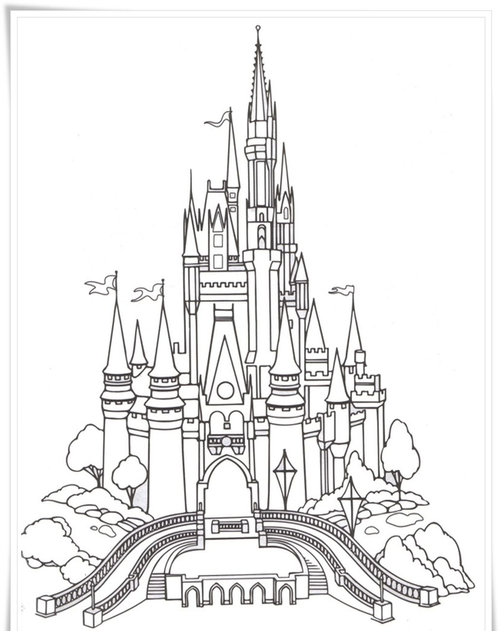 Disney Castle Coloring Pages For Adults Castle Coloring Page