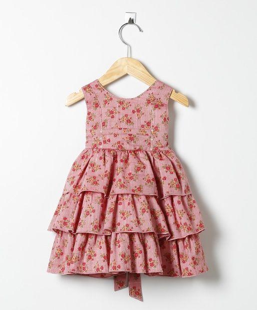 2ddf94fa3 Vestido Floral Vermelho Escuro Mais | Girl summer dresses | Vestidos ...