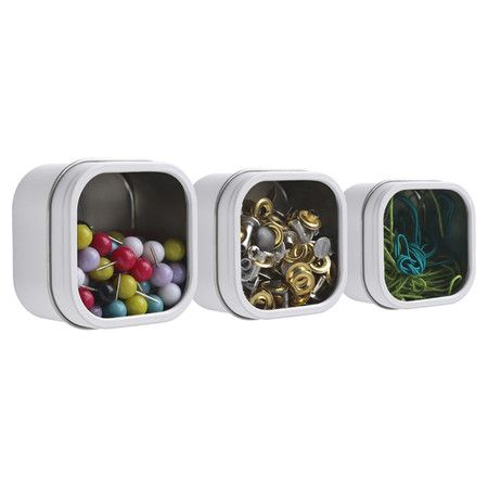 Featuring convenient magnet backings and transparent lids, this charming storage box is perfect for stowing beads in the craft room or paper clips in your ho...