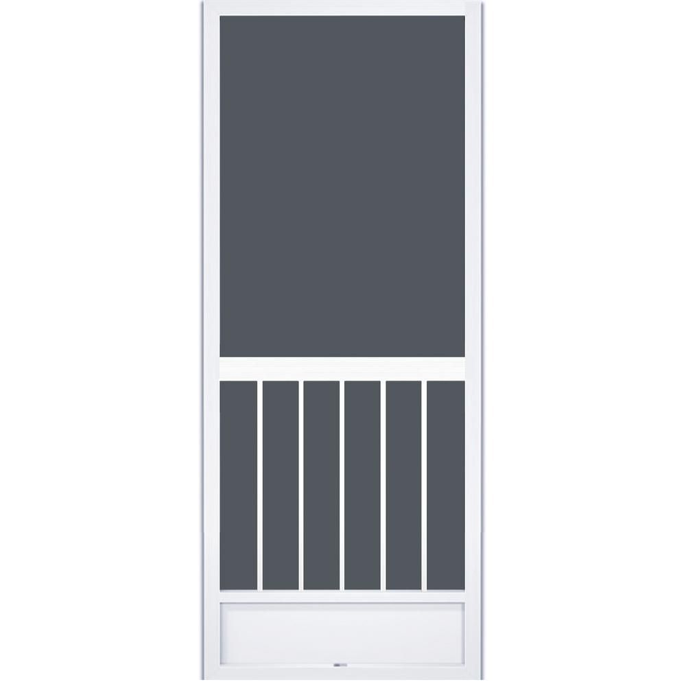 Pca Products 36 In X 80 In Westmore White Aluminum Screen Door