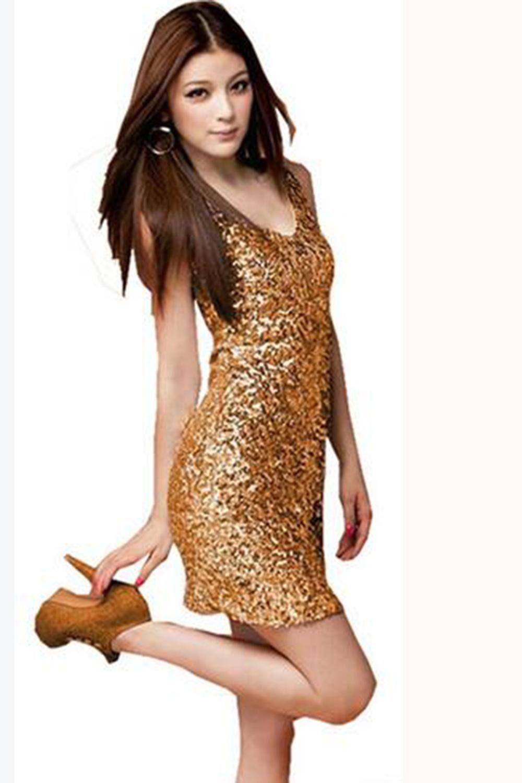 Women fashion Sexy V neck club sequin slim hip strep mini dress Ladies backless pencil dress #backlesscocktaildress
