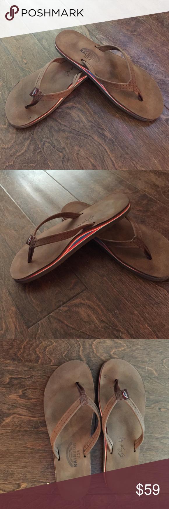 6d977a77c728 Women s rainbow americana sandals Limited edition women s americana sandals.  Size large fits 7.5-8.5