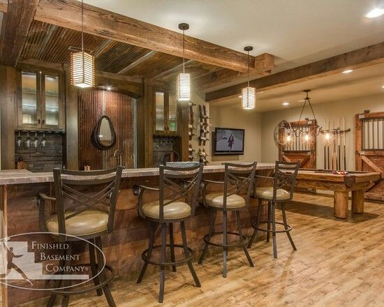 Rustic basements rustic country basement for the home - 7 great basement design ideas ...
