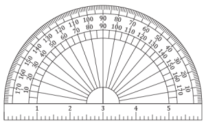 picture about Printable Protractor Pdf titled Printable Protractor and Ruler Card Producing Insider secrets