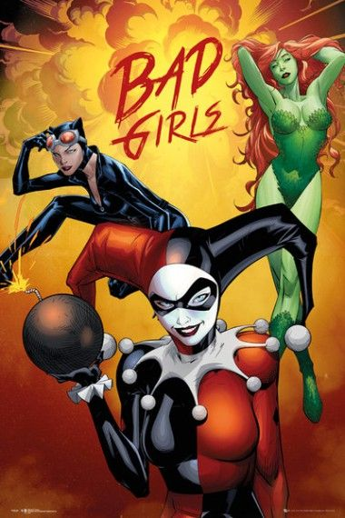 Dc Comics Bad Girls Plakat Plakaty Filmowe Movies