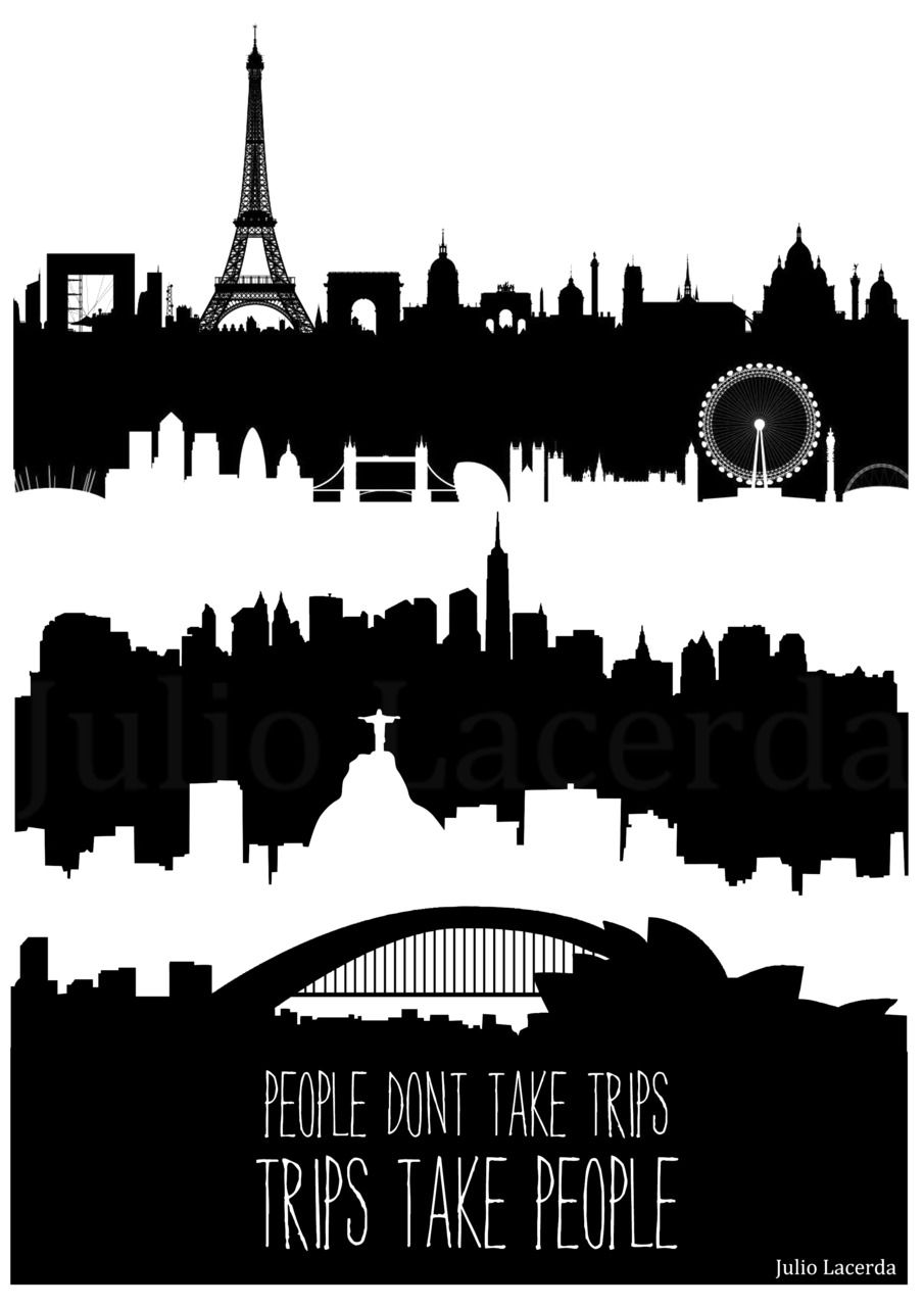 People don't take trips, trips take people. #travel #quote