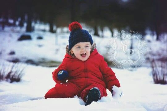 Toddler photo shoot baby boy in the snow cute location photography