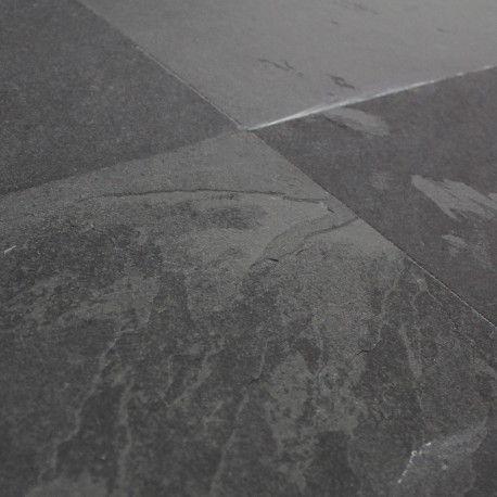 Carrelage sol ardoise naturelle Montauk Black 20x20 cm Auron - faience ardoise salle de bain